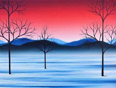 Snowscape Painting - Winter Beckons by Rachel Bingaman