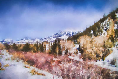 Pikes Peak Painting - Winter Beginnings In Colorado Landscape Art By Jai Johnson by Jai Johnson