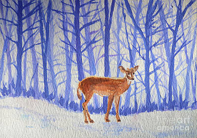 Painting - Winter Begins by Li Newton