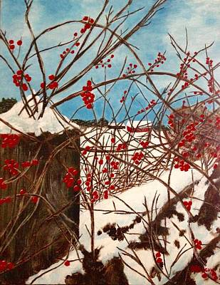 Painting - Winter Berries by Cynthia Morgan