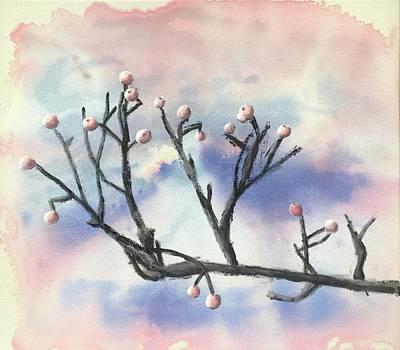 Painting - Winter Berries by Tamara Savchenko
