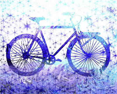 Painting - Winter Bicycle by Irina Sztukowski