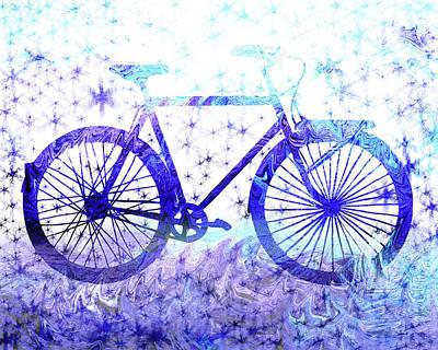 Painting - Winter Bicycle by Irina Sztukowski