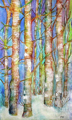 Painting - Winter Birch by Janet Immordino