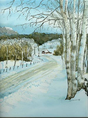 Painting - Winter Birch by Lynn Babineau