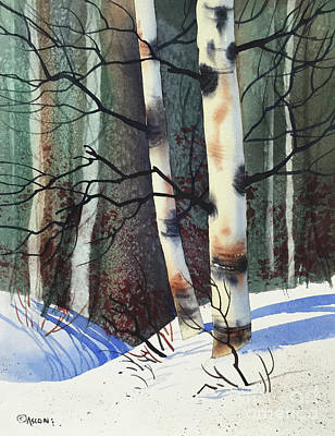 Painting - Winter Birch by Teresa Ascone