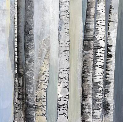 Painting - Winter Birches by Jillian Goldberg