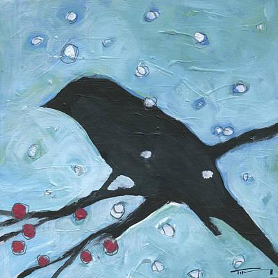 Painting - Winter Bird 3 by Tim Nyberg