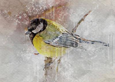 Digital Art - Winter Bird 5 by Yury Malkov