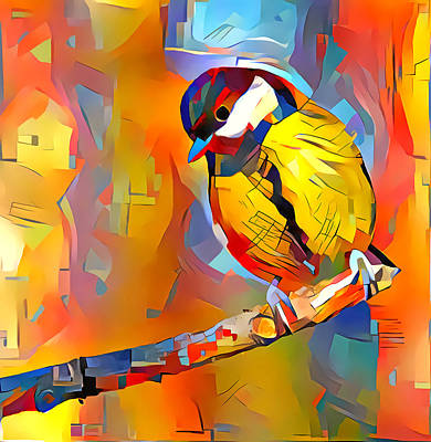 Digital Art - Winter Bird In Colors by Yury Malkov