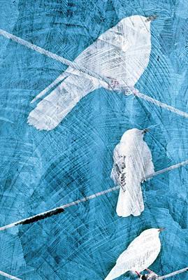 Art Print featuring the mixed media Winter Birds by Frank Tschakert