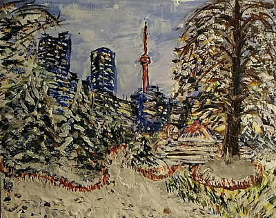 Winter Blanket At Toronto, Cn Tower Original