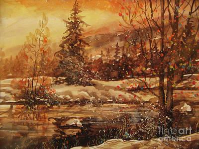 Painting - Winter Bliss by Dariusz Orszulik