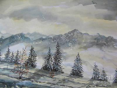 Painting - Winter Bliss II by Dariusz Orszulik