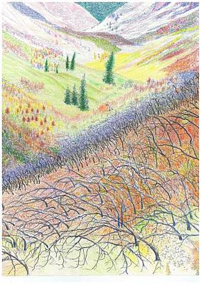 Autumn Scene Drawing - Autumn Bliss by Rich Torres