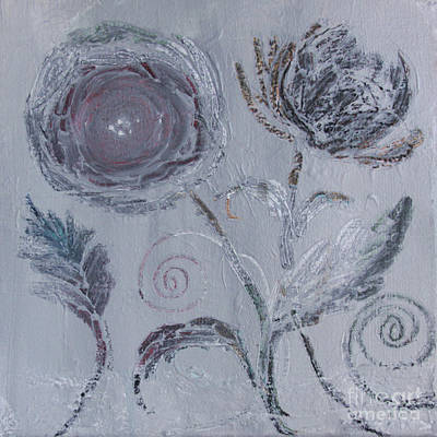 Art Print featuring the painting Winter Blooms by Robin Maria Pedrero