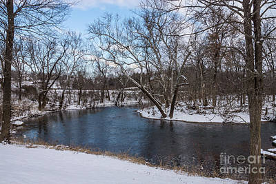 Photograph - Winter Blue James River by Jennifer White