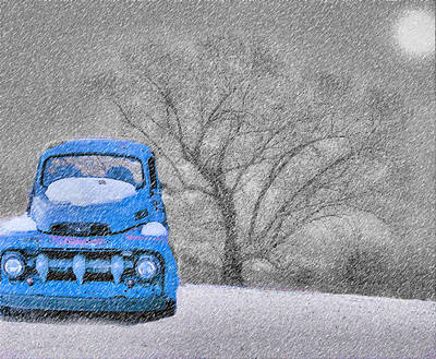 Photograph - Winter Blues 2 by William Griffin