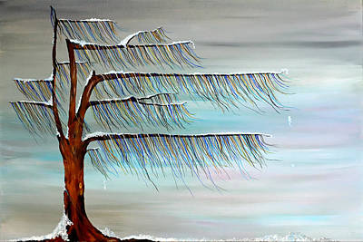 Winter Blues Art Print by Andrea Youngman