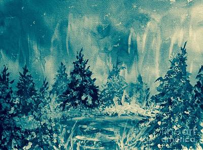 Painting - Winter Blues by Ellen Levinson