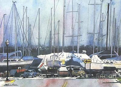 Winter Blues, Sal Boats, Boating Paintings, Boat Paintings, Boat Prints Art Print