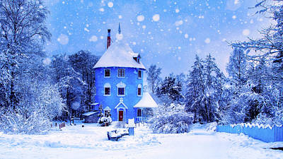 Photograph - Winter Blues - Sweden by Finmiki