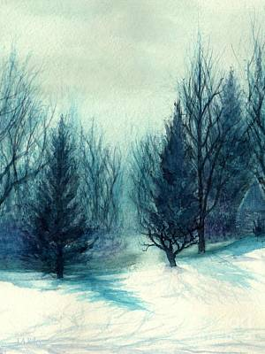 Winter Light Painting - Winter Blues - Winter's Light by Janine Riley