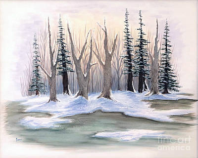 Painting - Winter Bog by KJ Burk