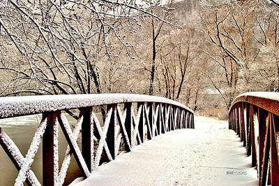 Photograph - Winter Bridge 2 by Susie Loechler