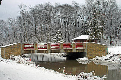 Photograph - Winter Bridge At Petrifying Springs Park by Kay Novy