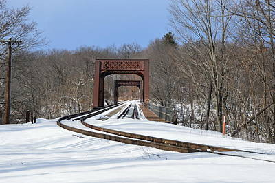 Photograph - Winter Bridge by Charles HALL