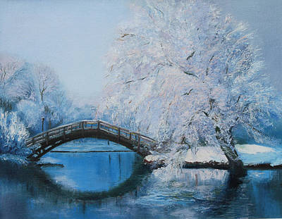 Painting - Winter Bridge by Elena Antakova