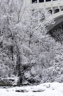 Photograph - Winter Bridge by Stewart Helberg