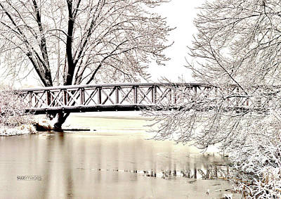 Photograph - Winter Bridge by Susie Loechler