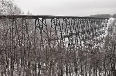 Winter Bridge Art Print
