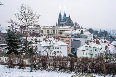 Photograph - Winter Brno With Cathedral Of St Peter And Paul  by Jenny Rainbow