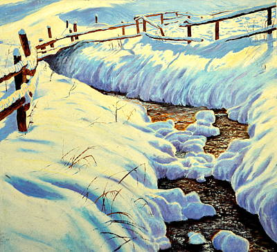 Painting - Winter Brook by Henryk Gorecki