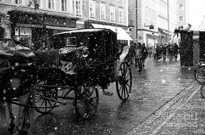 Winter Buggy In Salzburg Art Print by John Rizzuto