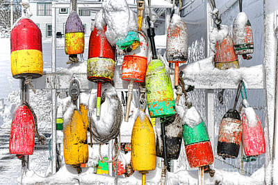 Gear Photograph - Winter Buoys by Olivier Le Queinec