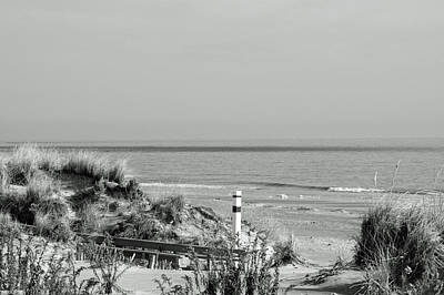 Photograph - Winter Bw Beach Scene by Greg Graham