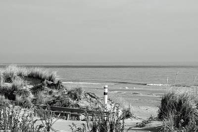 Photograph - Winter Bw Beach Scene by Greg Graham