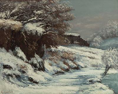 Painting - Winter By Gustave Courbet, 1870 by Celestial Images