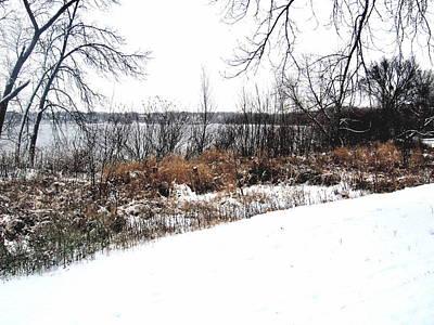 Winter By The Lake II Art Print by David Ritsema