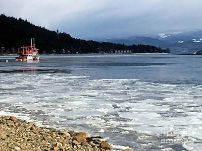 Art Print featuring the photograph Cottage Life In Winter by Victor K