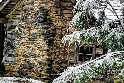 Log Cabin Photograph - Winter Cabin by Michael Eingle