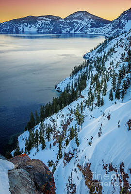 Crater Lake Wall Art - Photograph - Winter Caldera by Inge Johnsson