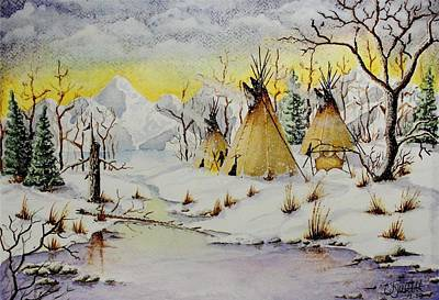 Painting - Winter Camp by Jimmy Smith