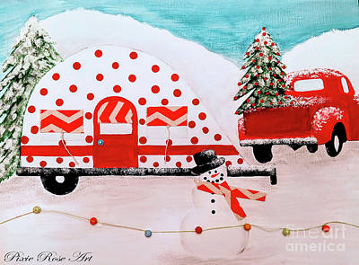 Mixed Media - Winter Camping by Danielle Allard