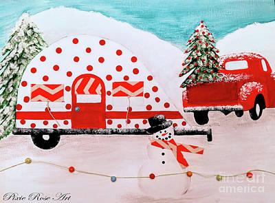 Mixed Media - Winter Camping by Danielle Allard