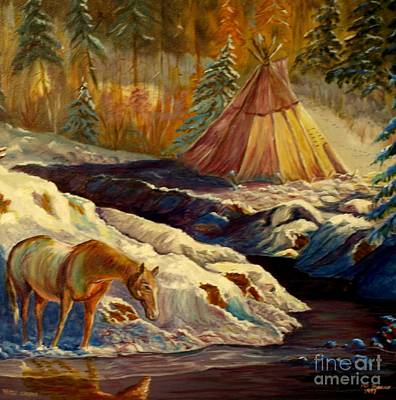 Winter Camping Art Print